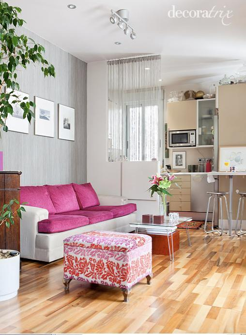 Separar espacios con medio muro y cortinas de hilo paperblog - Separar espacios ...