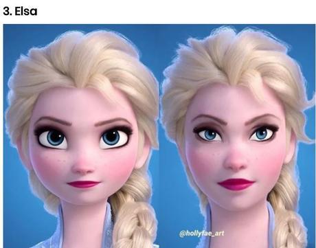 Zona Disney: Así se verían las princesas Disney con rasgos más reales