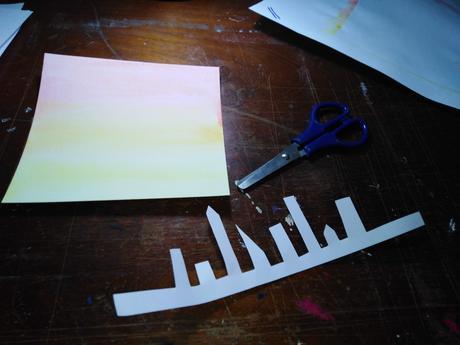 Cómo crear un paisaje sencillo con témperas y acuarelas