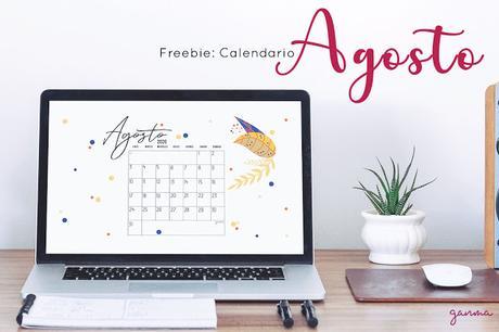 Freebie: Calendario Agosto 2020
