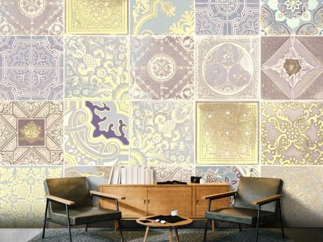 Un universo de texturas visuales en el papel pintado para decorar paredes