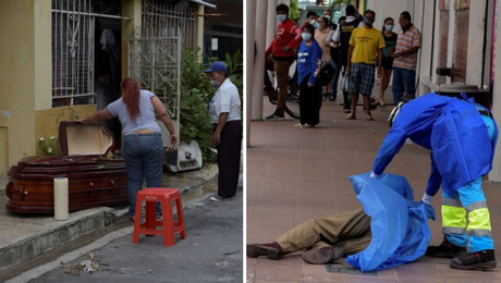 Colapsa Ecuador por Covid-19, dejan cadáveres en las calles -