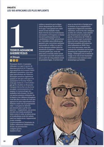 Les 100 africains les plus influents