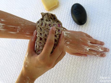 Funda-esponja para jabón sólido