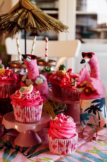 Flamingo Cupcakes (Watermelon Cupcakes)