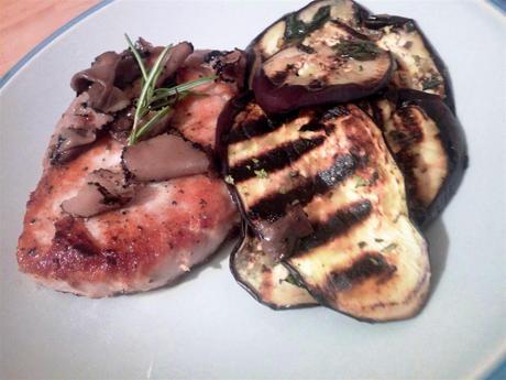 Lomo de cerdo con trufas negras de verano - Lonza di maiale al tartufo nero estivo - Roast pork with black truffles