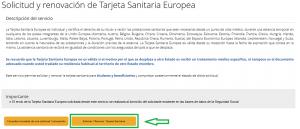 Como solicitar la tarjeta sanitaria Europea Online