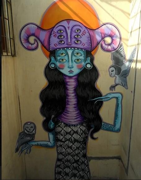 Graffiti  femenino. Bronik
