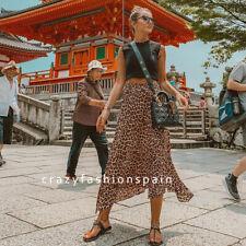 Falda Leopardo Roja Zara