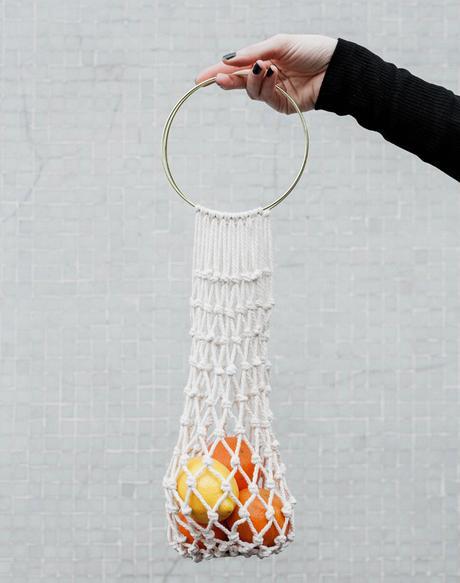 Diy para crear las bolsas de macramé para la compra