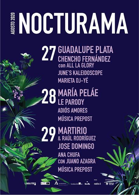 [Noticia] Programación completa de la 16ª edición del Nocturama, que contará entre otr@s con June's Kaleidoscope, Le Parody o Guadalupe Plata