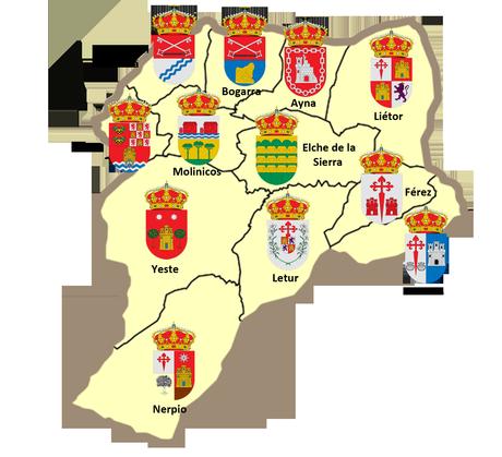 Mapa municipios y comarcas de Albacete [Curiosidad] - ForoCoches