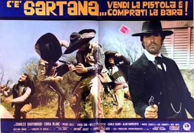 VENDE LA PISTOLA Y CÓMPRATE LA TUMBA (HA LLEGADO SARTANA) (C'è Sartana... vendi la pistola e comprati la bara) (Italia, 1970) Western Europeo (Spaguetti Western)