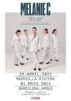 Concierto de Melanie C en Madrid y Barcelona en 2021