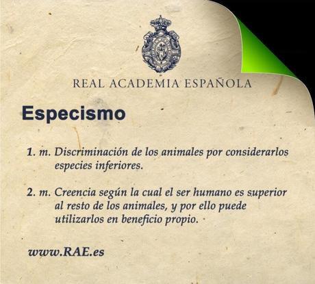 Sobre la definición de especismo