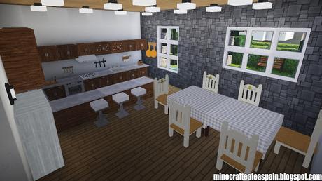 Casa Moderna en Minecraft con jardín, por Minecrafteate.
