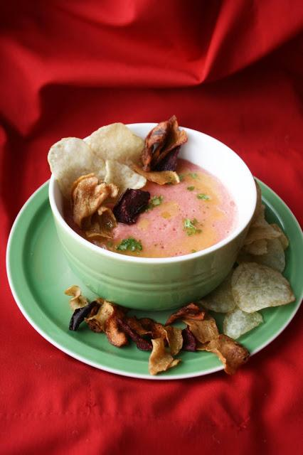 Sopa fría de tomate y sandía  El Ágora de Ángeles