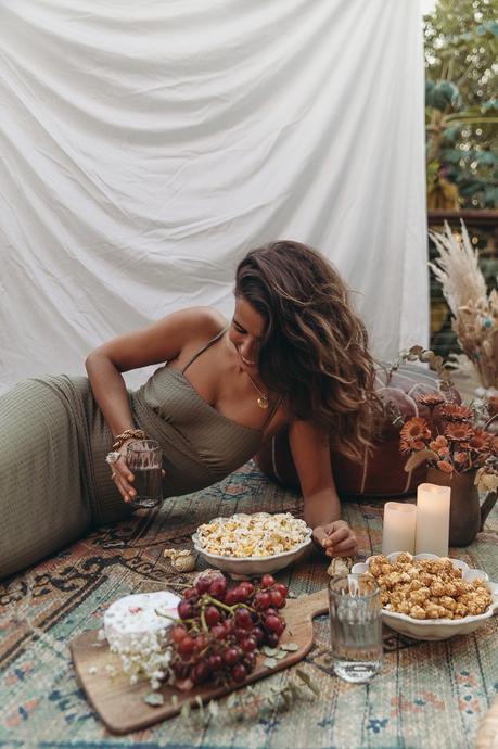 Collage Vintage Movie night with Revolve Summer