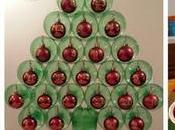 Ideas Espectaculares arboles navideños hecho botellas tubos