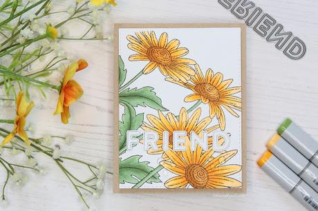 Easy Friendship Card with a Background Stamp