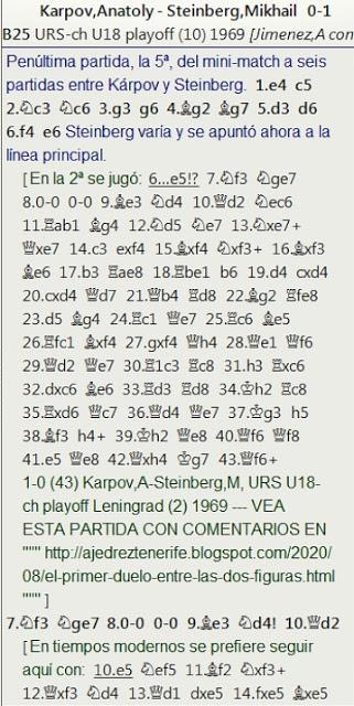 ¡El último servicio a la Patria! - La victoria de Steinberg sobre Kárpov en la 5ª partida del Mini-Match de Leningrado de 1969