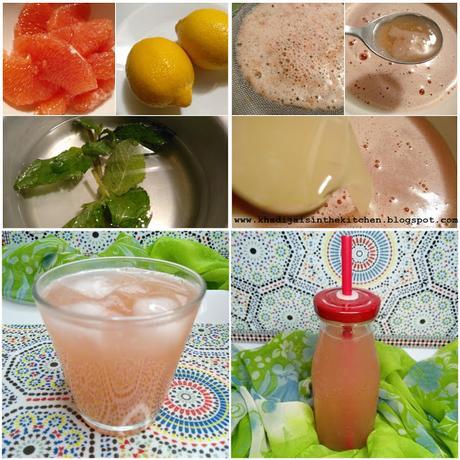 LIMONADE AU PAMPLEMOUSSE / GRAPEFRUIT LEMONADE / LIMONADA DE POMELO / شراب الزنباع (الليمون الهندي)