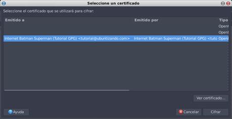 Cifrar/firmar documentos en LibreOffice utilizando GPG