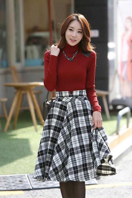 Cristianas Faldas Coreanas Juveniles De Moda