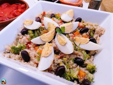 Ensalada de arroz con brócoli