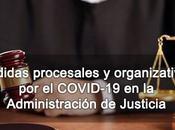 Medidas procesales organizativas COVID-19 Administración Justicia
