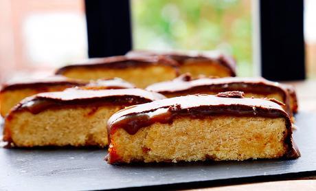 BARRITAS CRUJIENTES DE CHOCOLATE Y TOFFEE