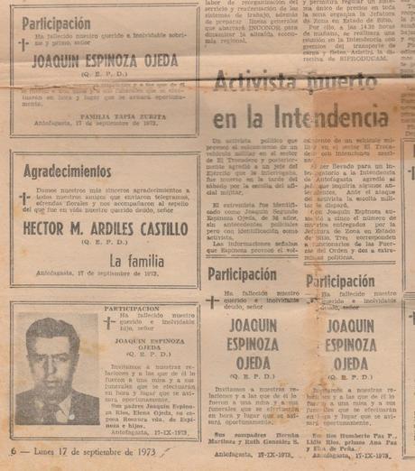 Marìa Espinoza:Mi papá asesinado   era marinero de bahía.
