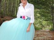 Falda Azul Turquesa