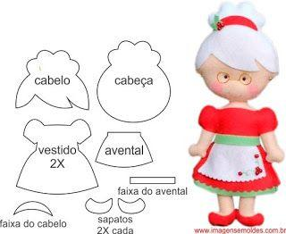 Curso de muñeca navideña con moldes gratis
