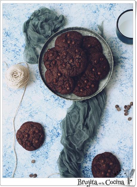 Cookies de chocolate sin huevo