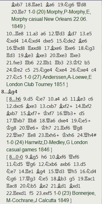 3 a 0 para Anderssen en una complicada partida del Torneo Internacional de Londres de 1851