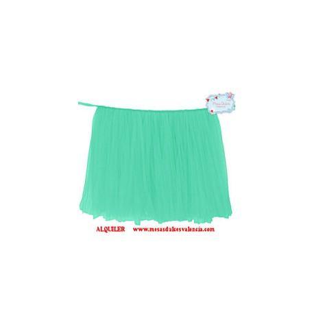 Falda De Tul Verde