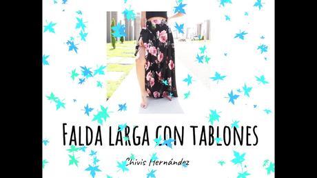 Falda Medio Circular Con Tablones
