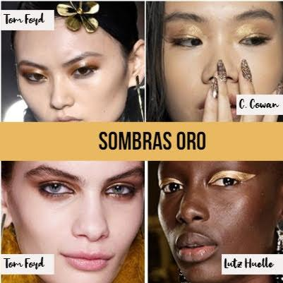sombras oro collage