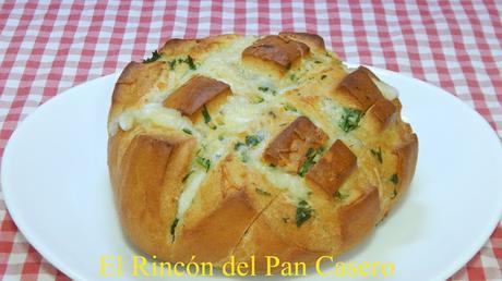 Cómo hacer un pan de ajo, queso y mantequilla muy crujiente y delicioso