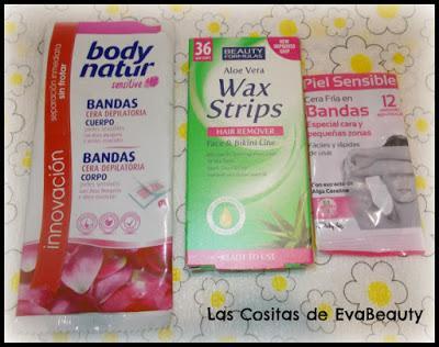 Bandas de cera depilatoria Body Natur, Beauty Formulas y Deliplús