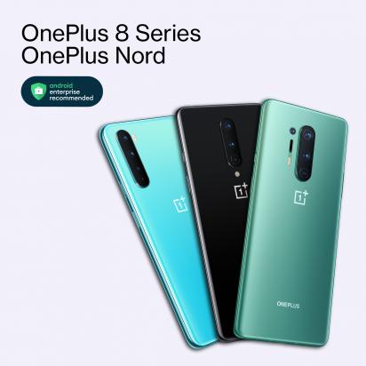 Android Enterprise Recommended celebra la incorporación de la familia OnePlus 8 y OnePlus Nord