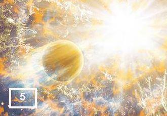 Detectan un planeta  gigante orbitando cerca  de una estrella moribunda