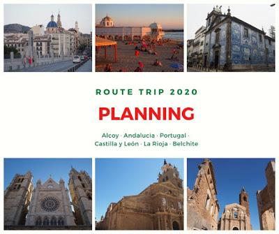 Planning Route Trip 2020 España - Portugal