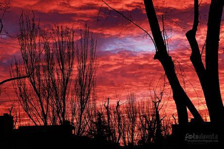 Amanecer rojo - Fotografía