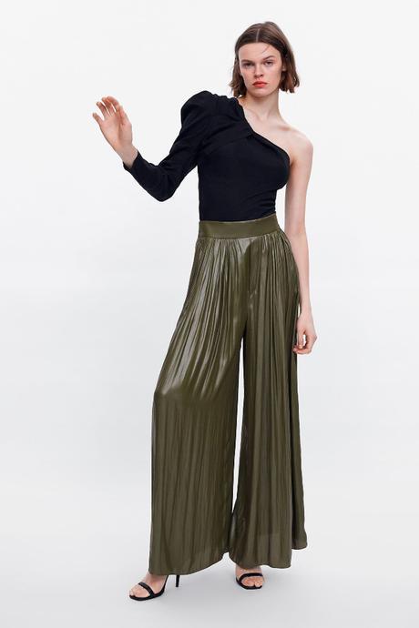 Falda Pantalon Rosa Zara
