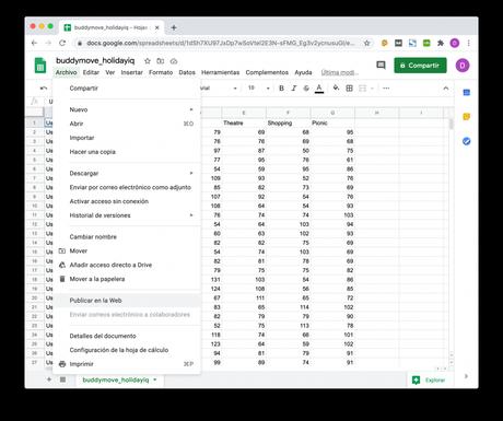 Importar datos desde Google Spreadsheets en Python con Pandas