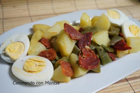 Judías verdes con patatas y chorizo