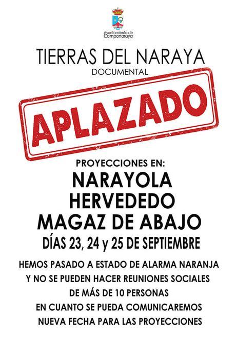 El Ayuntamiento de Camponaraya aplaza la proyección del documental 'Tierras del Naraya' por las medidas sanitarias