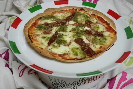 PIZZA CON TORTILLAS DE TRIGO